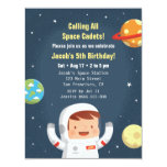 ❤️ Astronaut Space Cadet Birthday Party Invitation