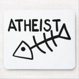 Atheist Fish Funny Mousepad