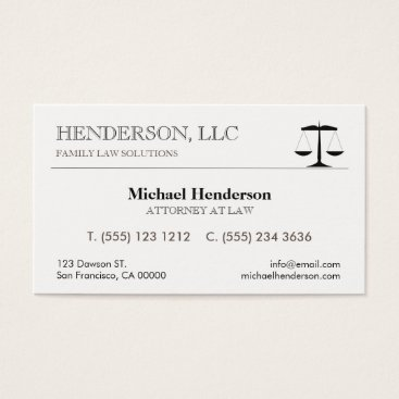 Attorney at Law Black Scale Business Card