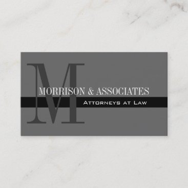 Attorney Professional Business Cards Grey