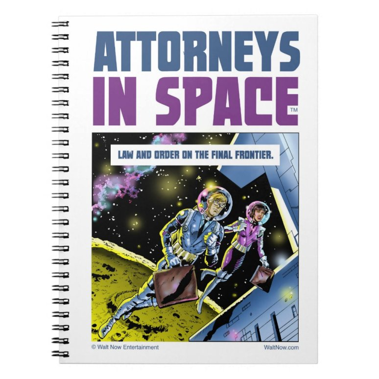 ATTORNEYS IN SPACE notebook