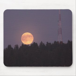 August Supermoon over Paradise Ridge Mousepad