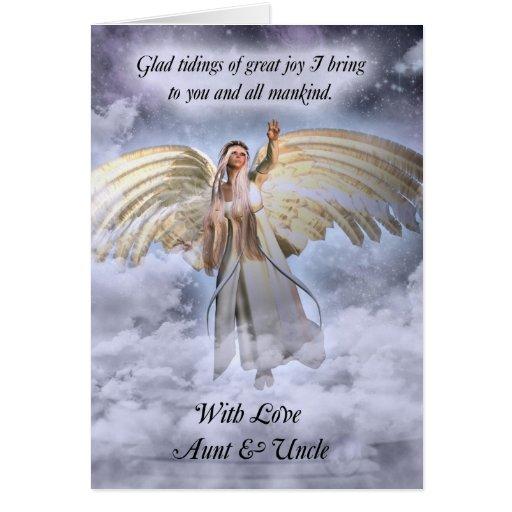 Aunt Amp Uncle Angel Christmas Card Religious Zazzle