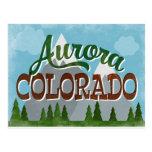Aurora Colorado Snowy Mountains Postcard