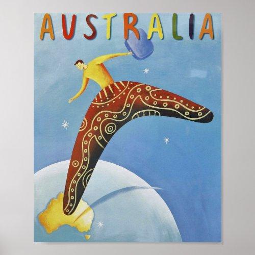 Australia Travel poster print