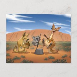 Australian Jug Band Postcard postcard