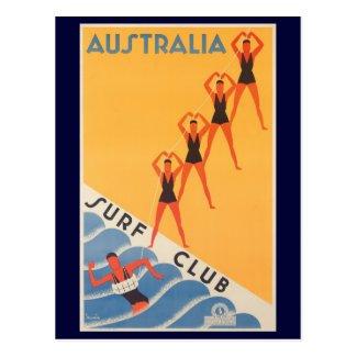 Australian vintage surf club poster Postcard