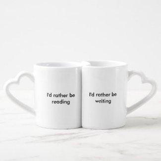 Author and Muse/Author and Reader Set Coffee Mug Set