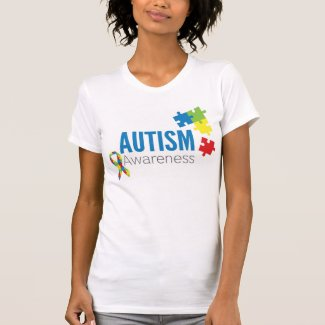 Autism Awareness Puzzle Pieces and Ribbon T-shirts