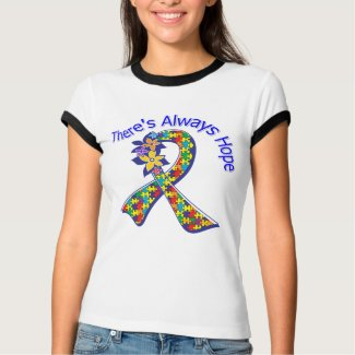 Autism There's Always Hope Floral shirt