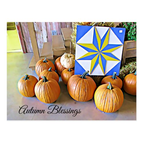 Autumn Blessings Personalized Halloween Postcard