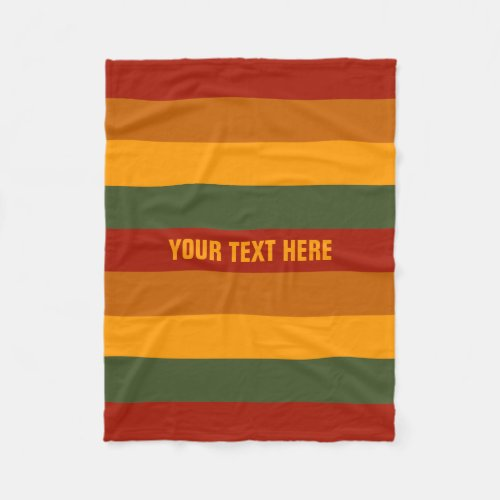 Autumn Colors custom fleece blanket