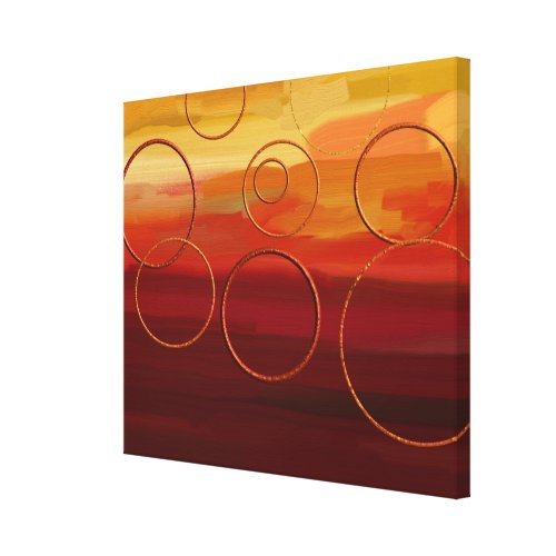 Autumn Crimson Circles Canvas Print