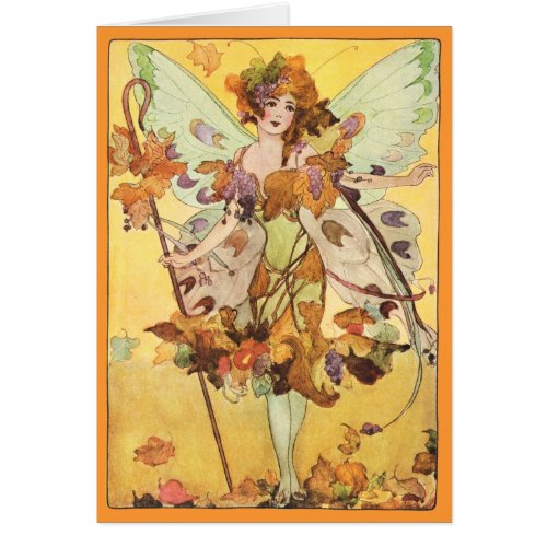 Autumn Faerie All Occation Card