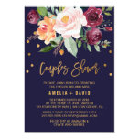 Autumn Floral with Wreath Backing Couples Shower Invitation