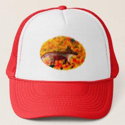 Autumn Fox Art Trucker Hat