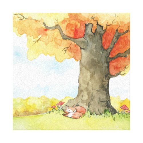 Autumn [fox] canvas print