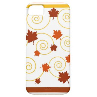 Autumn leaves and spiral iPhone 5 covers