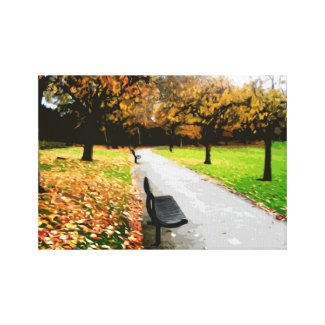 Autumn park wrappedcanvas