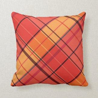 Autumn Plaid Throw Pillow Home Decor