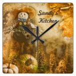 Autumn Pumpkins  Personalized Kitchen Clock