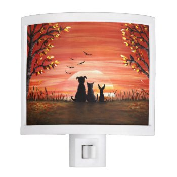 Autumn Sunset Night Light