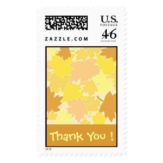 Autumn Thank You ! - Postage