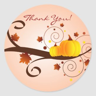 Autumn Thank You! - sticker sticker