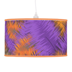 Autumnal Rich Orange Purple Abstract Pattern Lamps