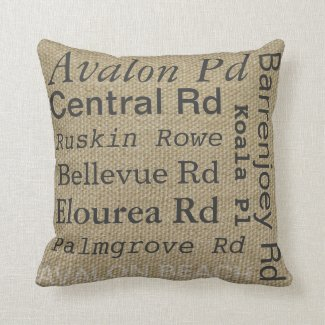 Front of Avalon Beach cushion. Can edit street names (click)