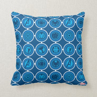 Avengers Assemble Icon Pattern Throw Pillow