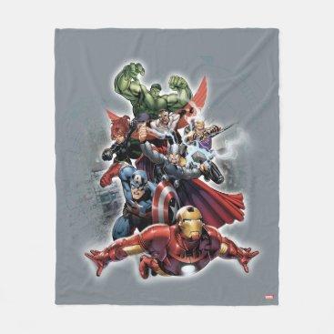 Avengers Attack Graphic Fleece Blanket