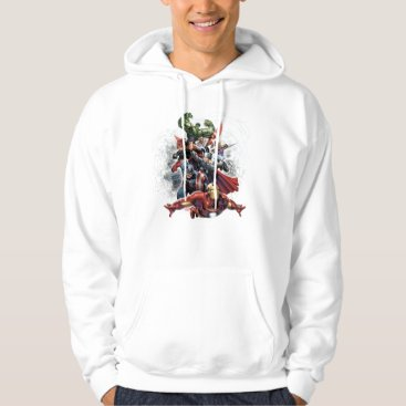 Avengers Attack Graphic Hoodie