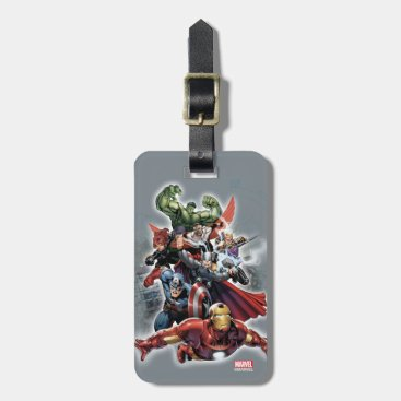 Avengers Attack Graphic Luggage Tag