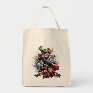 Avengers Attack Graphic Tote Bag
