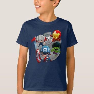 Avengers Classics   Chibi Avengers Assembled T-Shirt