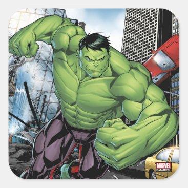 Avengers Classics | Hulk Charge Square Sticker