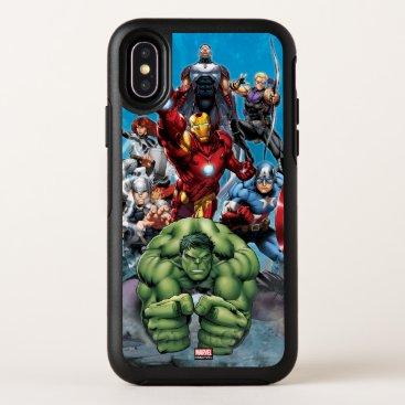 Avengers Classics | Hulk Leading Avengers OtterBox Symmetry iPhone X Case