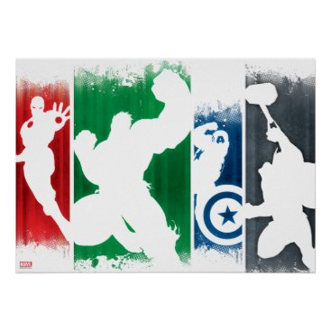 Avengers Classics | Paint Swatch Silhouettes Poster