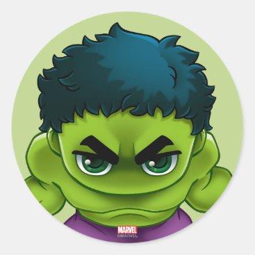 Avengers Classics | The Hulk Stylized Art Classic Round Sticker