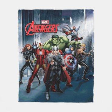 Avengers Classics   Thor Leading Avengers Fleece Blanket