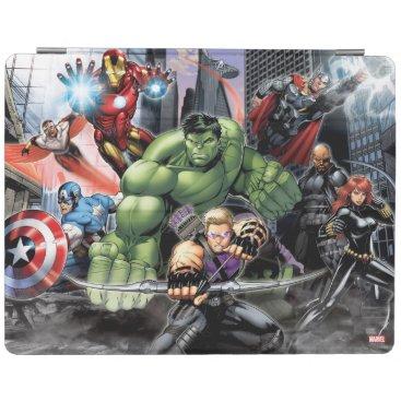 Avengers Defending City iPad Smart Cover