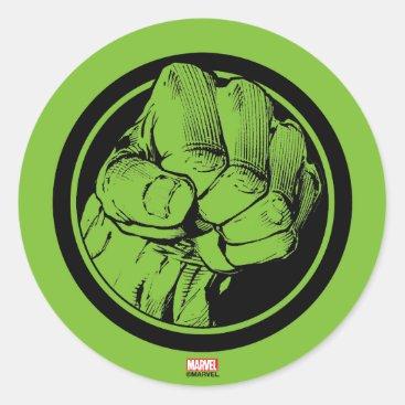 Avengers Hulk Fist Logo Classic Round Sticker