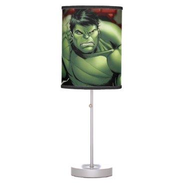 Avengers Hulk Smashing Through Bricks Table Lamp