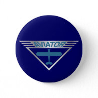 Aviator Pinback Buttons