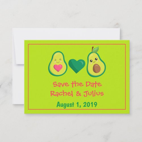 Avocado Couple Save the Date