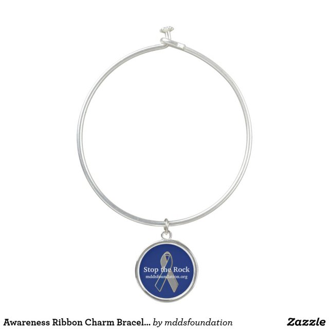 Awareness Ribbon Charm Bracelet