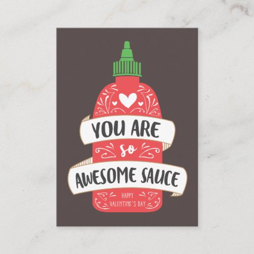 Awesome Sauce Valentine Note Card