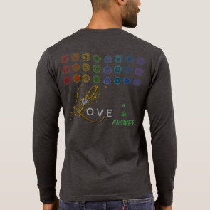 Aztec Art ~ Yoga ~ Love in the Answer Long Sleeve T Shirt
