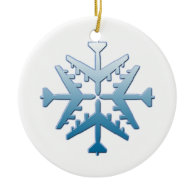 B-52 Aircraft Snowflake Christmas Tree Ornaments